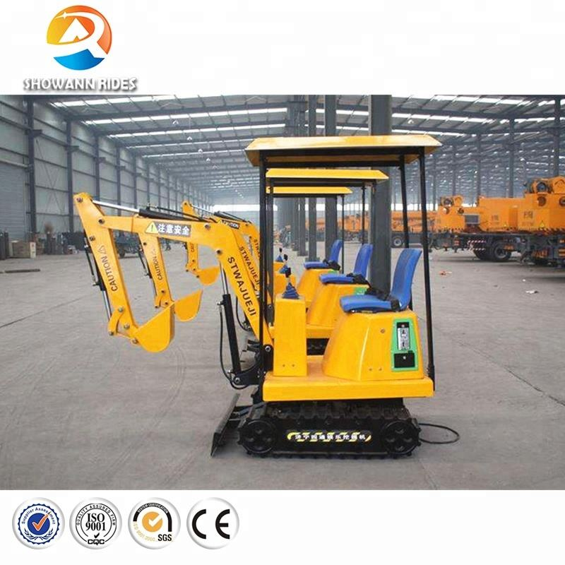 China supplier high quality attractive kids mini electric excavator digger amusement park playground rides equipment for sale
