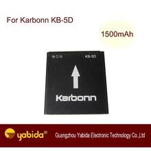 Rechargeable Li-ion mobile battery KB-5D 3.7V 1500mAh A11 cell phone batteries For Karbonn