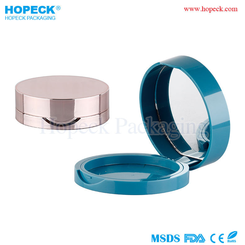 Round shape empty make up compact with mirror, HPK-COSPP06-00099W