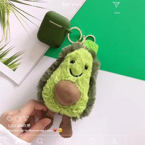INS Avocado Fluffy Doll Liquid silicone Covers For Airpods Case 2019 New Arrival