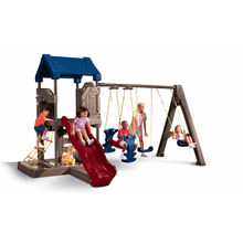 Wholesales price backyard climbing structures swing and slide sets for kids