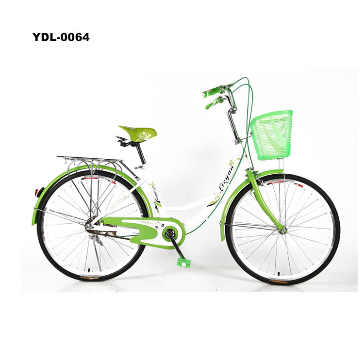 China Women Bicycles 26 Ladies Bike High Carbon Steel City Bike