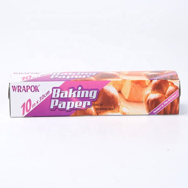 Food Grade Greaseproof Baking Paper Roll Eco-friendly Food Baking paper in color box