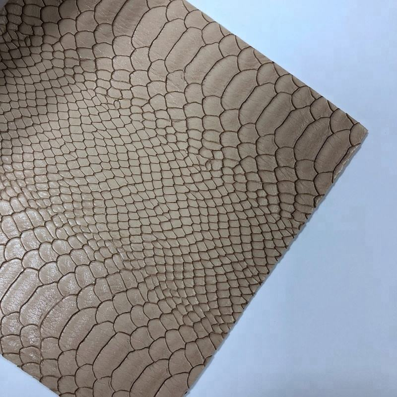 Different color snake skin synthetic leather for make fashion handbag and shoes