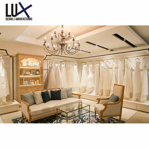 Luxury Bridal Dress Shop Display Furniture Retail Wedding Boutique Interior Shop Design