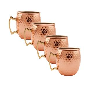 Custom Plated Stainless Steel Moscow Mule Mug copper mugs of 4 Beer Drinking cups