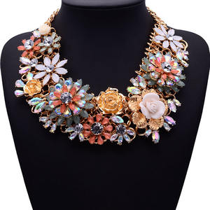 Shourouk design bib chunky statement necklace wholesale
