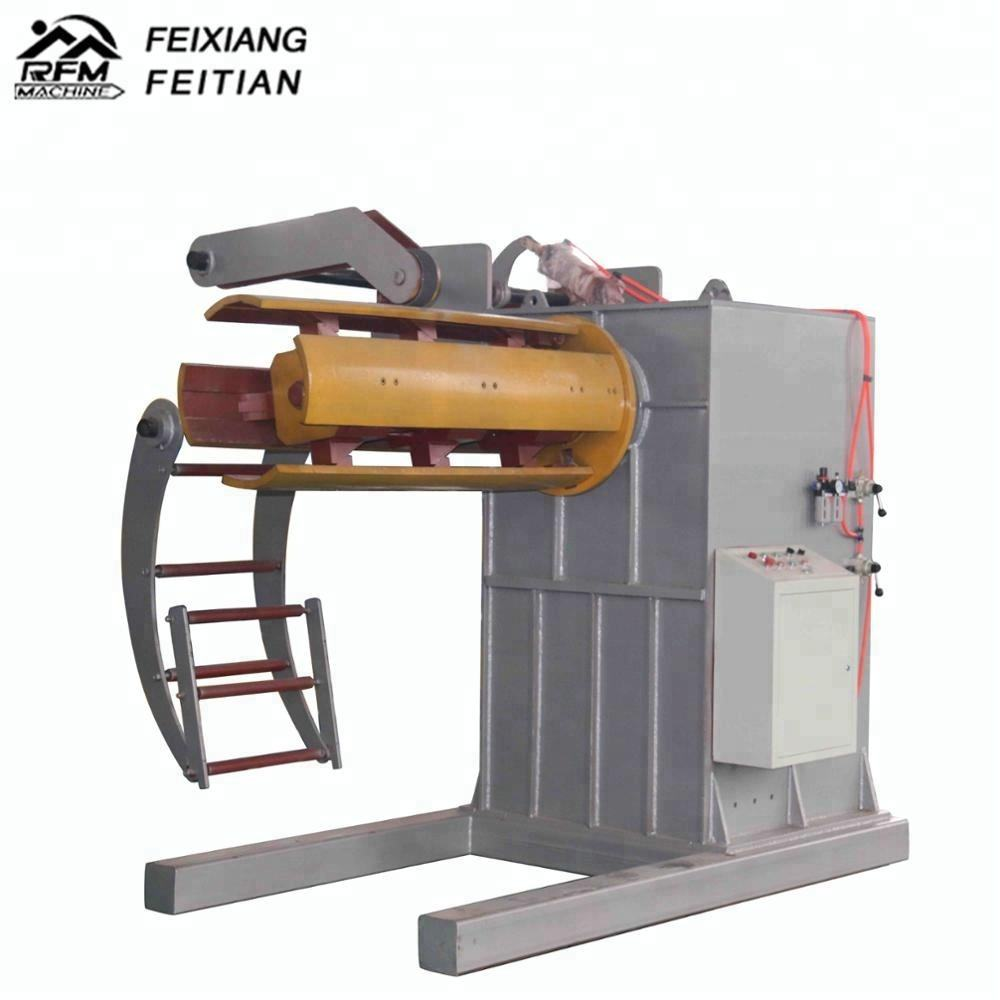 FX automatic steel coil decoiler with expanding mandrel