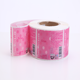 High quality professional cosmetic red label printing waterproof transparent clear adhesive sticker