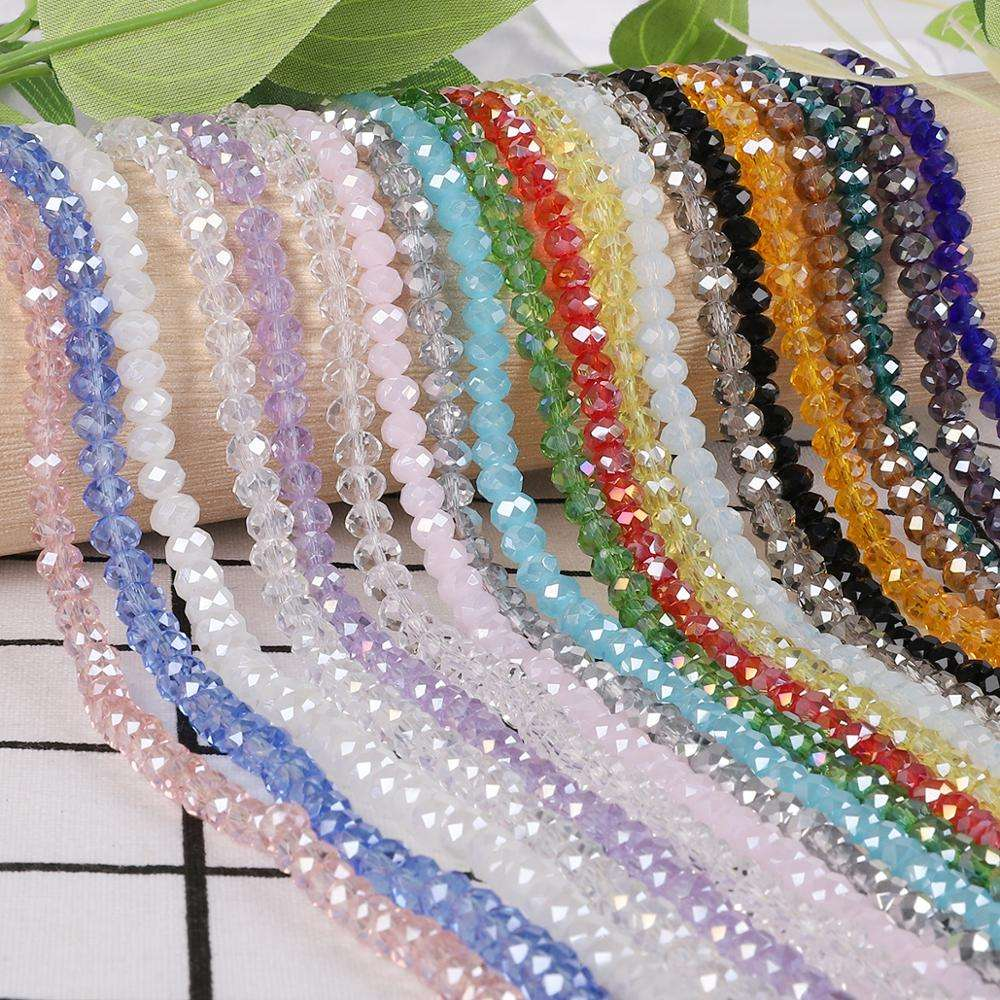 Free Shipping Mix Color 8mm Austria faceted Crystal Glass Beads Loose Spacer Round Beads For Jewelry Making Necklace Bracelet