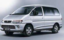 KINGLONG high-performance 14-seats mini passenger van for Ghana