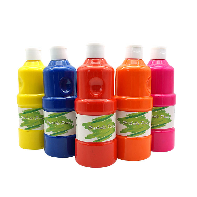 400ml washable non-toxic kids finger paint , kids drawing toy