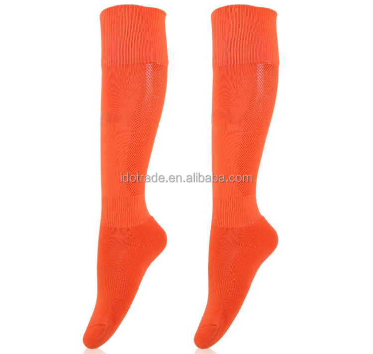 Hosiery Fashion Combed Cotton Sport Compression orange knee high socks picture