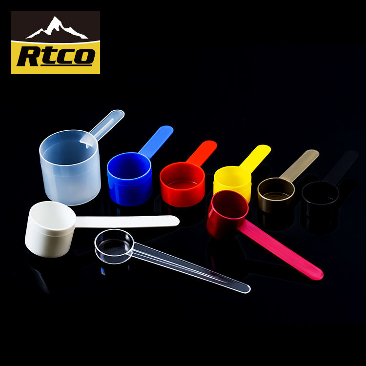 RTCO PP Custom 1g 2g 3g 5g 10g 25 Adjustable Plastic Measuring Spoon Set Of 6 For Protein Powder With Food