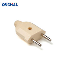 OUCHI China Wholesale 2 Pin Non-Grounding Brass Terminal 6A Electric Plug