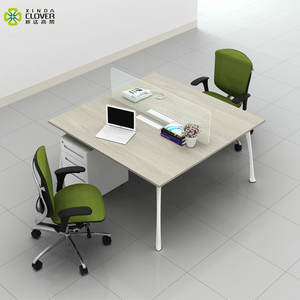 Modern commercial VLS series 2 person computer office desk mdf white office furniture supplies for sale