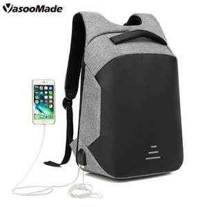 New 2020 nylon men smart anti-theft office back pack waterproof school bag anti theft laptop backpacks custom logo