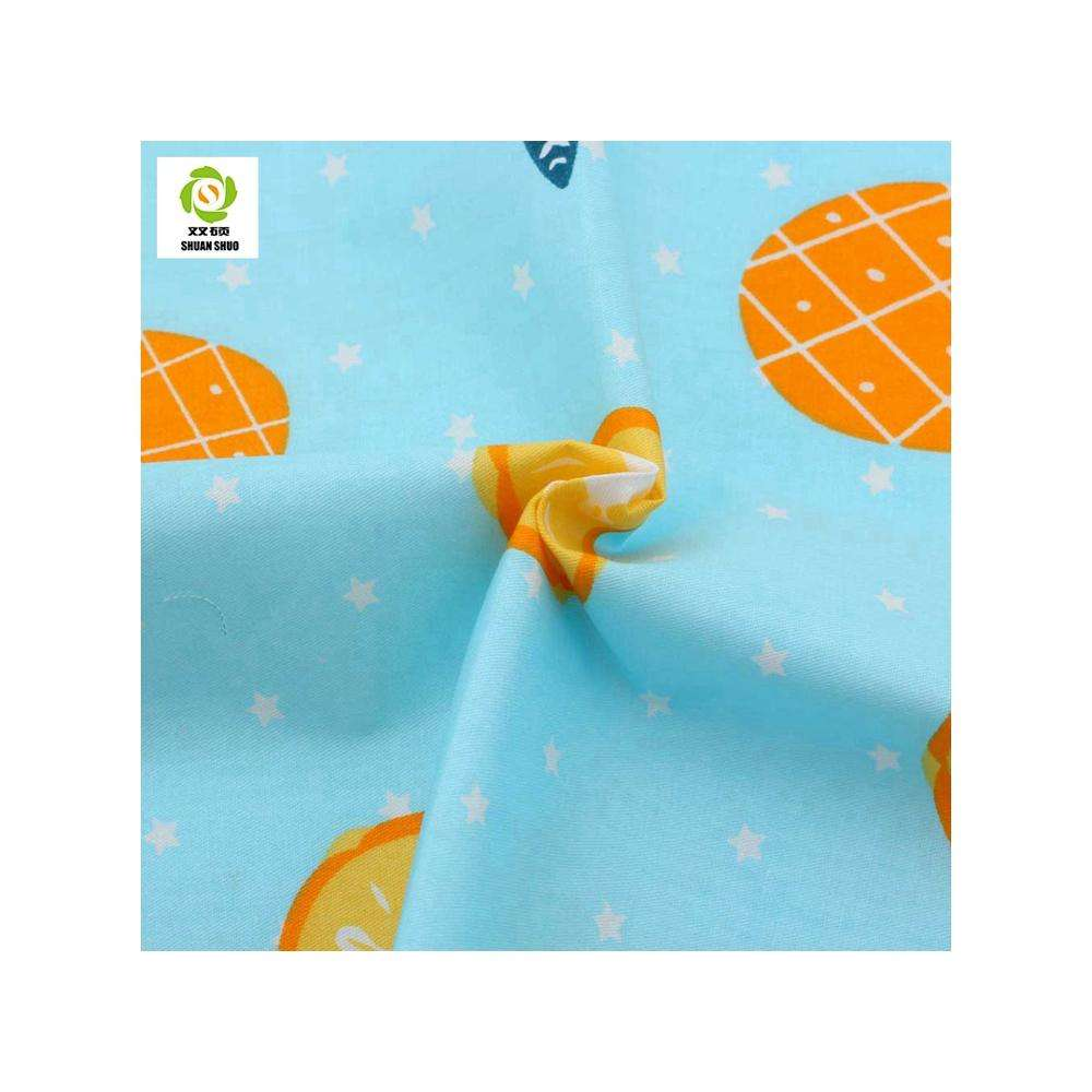 High Quality Breathable Pineapple Pattern Twill Cotton Fabric Printed Textiles For DIY Sewing Handicrafts