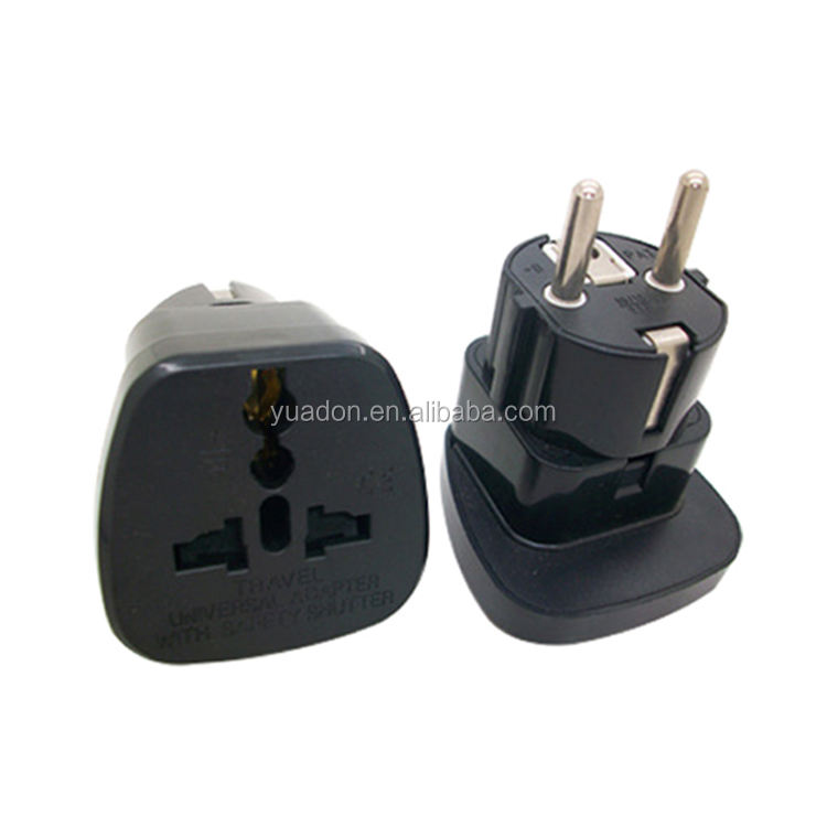 Aarde Verbinding 2 ronde Pinnen travel adapter plug universele socket converter
