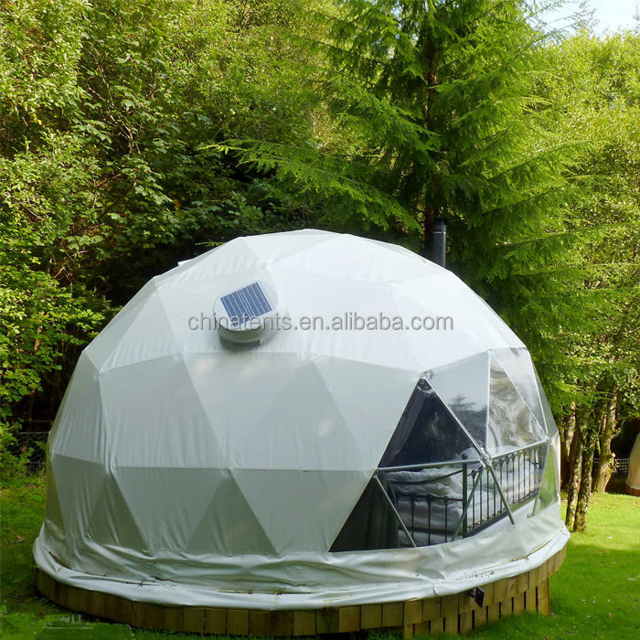 Geodetische winter dome/6 m <span class=keywords><strong>cirkel</strong></span> tent met solar fan