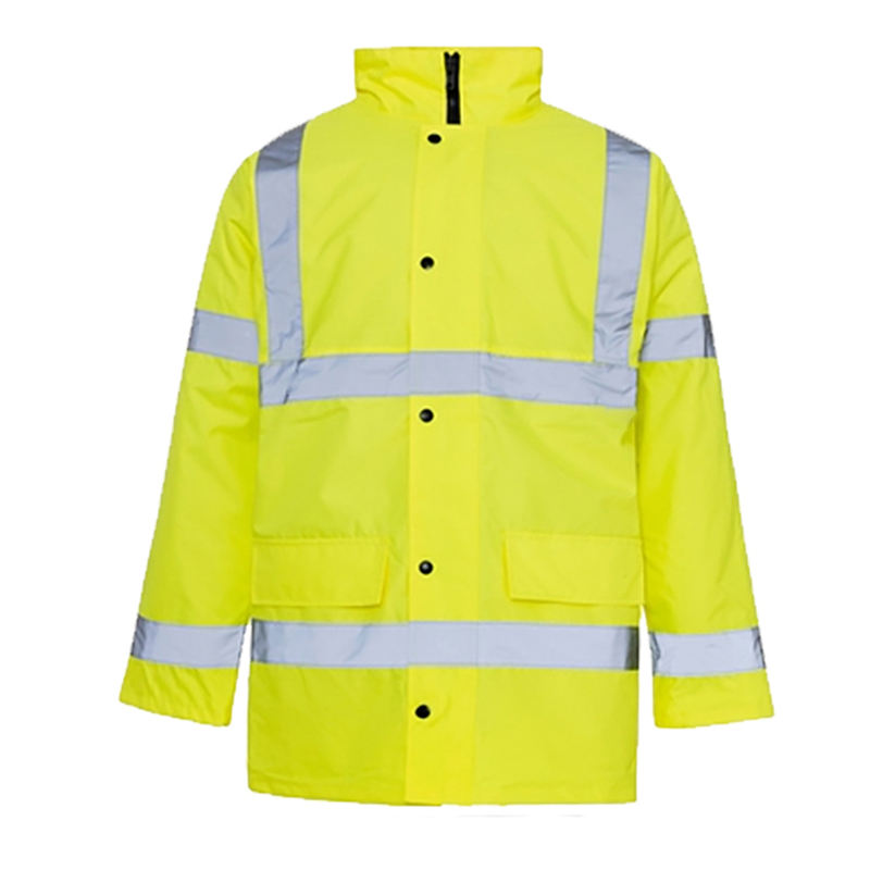 ZUJA CE EN ISO 20471 Men high quality yellow winter safety jacket hi vis waterproof jacket