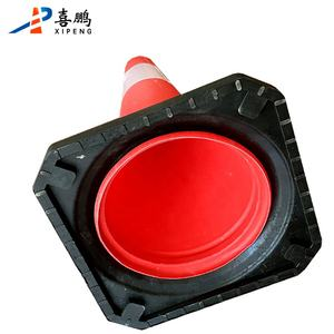 Road safety 50cm 70cm flexible plastic PE traffic cone