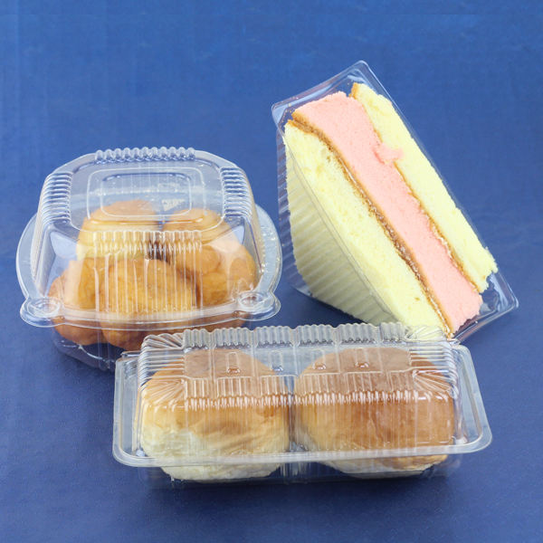 PET/PP disposable transparent sandwich/cake plastic food container/box/packaging