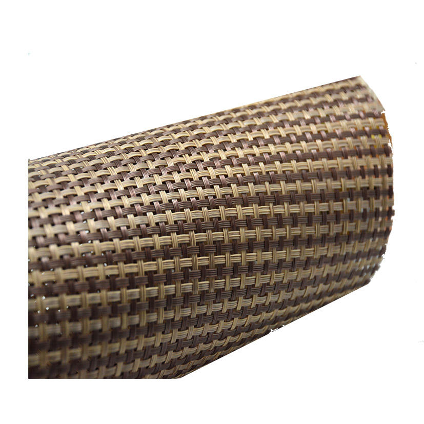 swing chair rattan material by roll pvc rattan material mesh for beach chair use