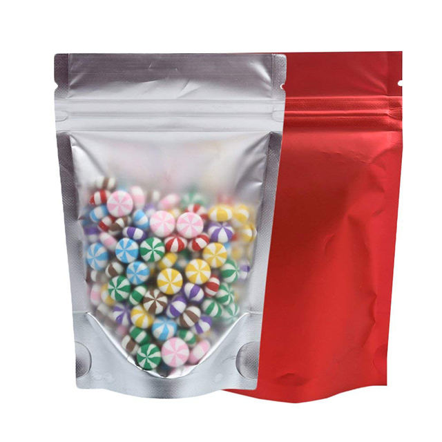 Mylar matte ziplock aluminum foil stand up pouch for candy