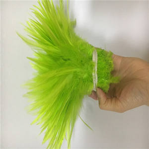 IEF-32 ขายส่ง 12-15 ซม. สีขาว Cock feather Rooster Feather Strung สำหรับขาย