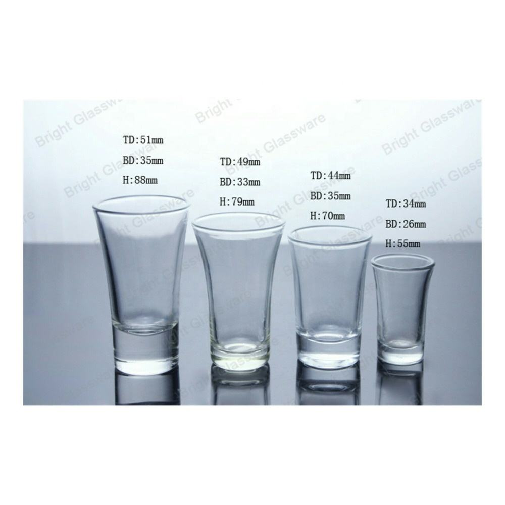 Wholesale 0.5oz 1oz 2oz souvenir tequila shot glasses bullet whiskey shot glass