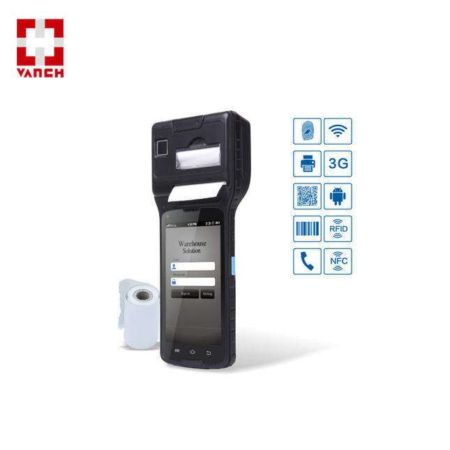 Android Handheld 2 Meters UHF RFID Smartphone Met Thermische Printer