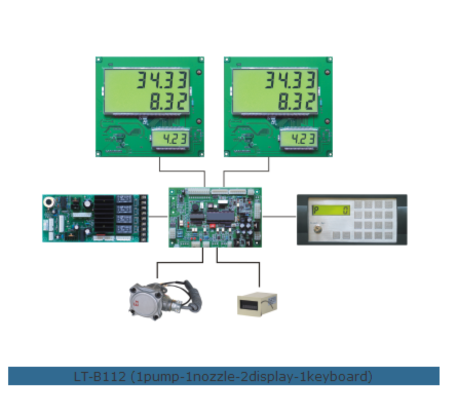 Microcomputer controller for fuel dispensers LT-B112 fuel dispenser controller system