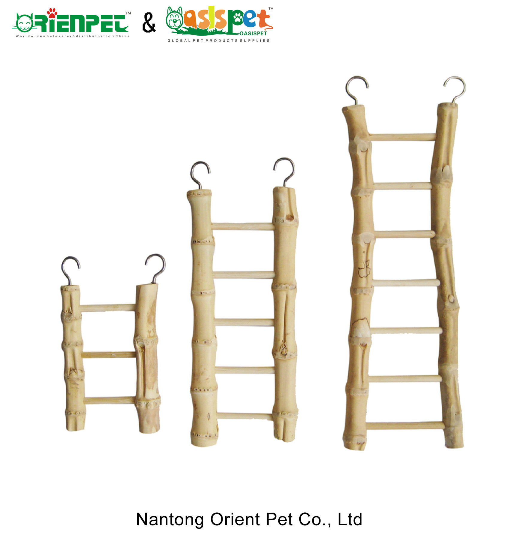 ORIENPET & OASISPET Natural bamboo ladder bird toys NTBT6962 pet products