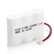 Low price rechargeable battery pack factory direct 3.6v 2/3 aa ni cd battery 3.6v 300mAh for light,cordless phone,sensor,IOT