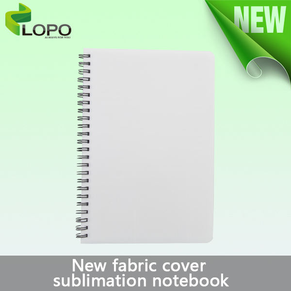 Customized Sublimation Fabric Cover Spiral Notebook