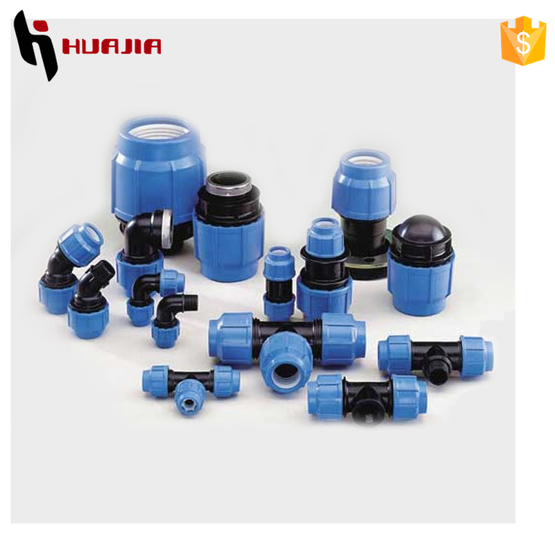 JH0634 agriculture irrigation pp compression fittings alkathene pipe fittings hdpe coupling