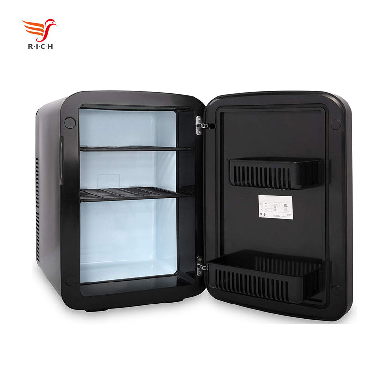 20L Smart Fridge Mini Cosmetic Fridge Freezers DC12V Small Fridge for Hotel Kitchen Dorm Room Refrigerators