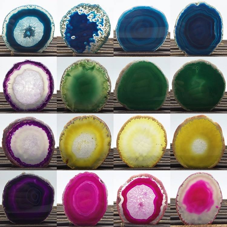 Agate Slices Wholesale Natural Brazilian Gemstone Beads Irregular Shape Mix Color 50mm Large Precious For Lucky Pendant
