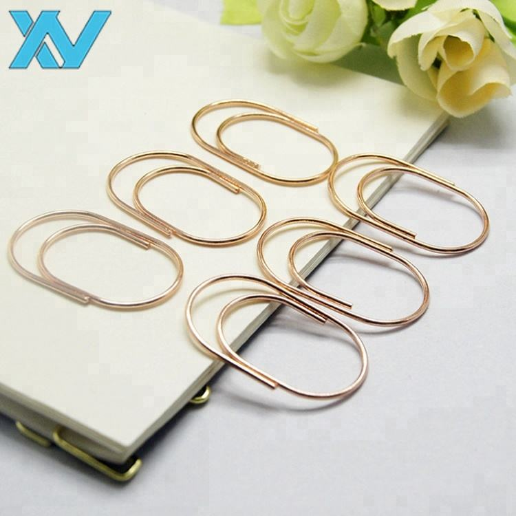 Mini golden color metal paper clip 20*18mm size office stationery