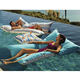 Outdoor beanbag pool lounge/ fabric swimming pool float / pool float lounge