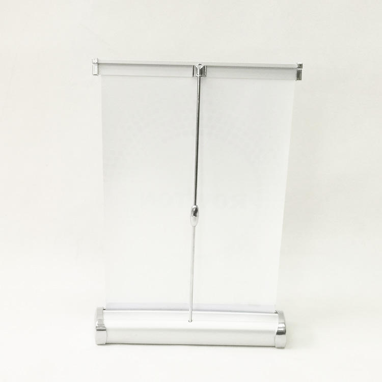 Tamanho A4 mini tabletop display banner roll up stand