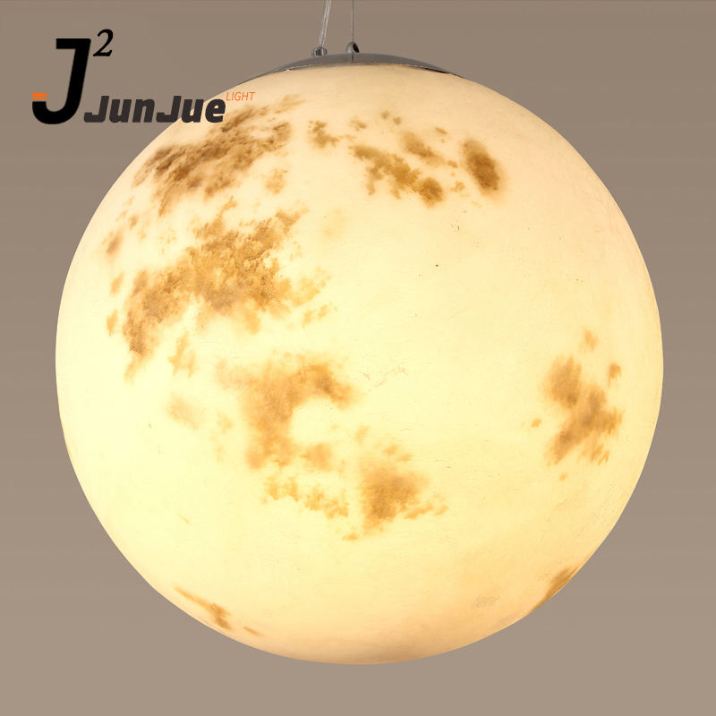 Home decor round mercury venus hanging lamps pendant lights hotel restaurant 3d printed moon lamp