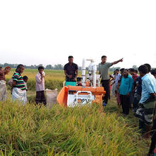 Only one factory which can produce the half-feeding rice combine harvester