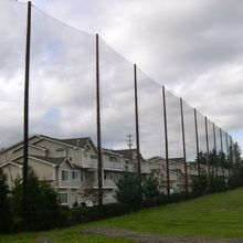 Polyethylene polyester nylon golf baseball barrier netting for sports net