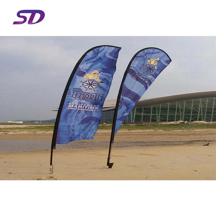 Hot Sale Banner Printed Outdoor Feather Beach Flag Pole Banner Stand