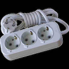 Group Socket/Extension Socket 3 Gang Earthed with cord