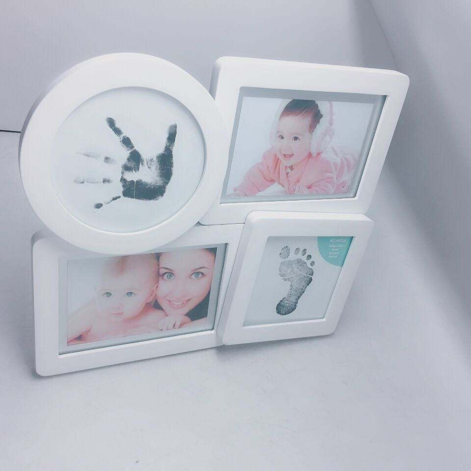 Combination baby hand Photo Frame Romantic Europe Style Wood Love White Photo Frame Four Photos