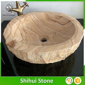 sanitaryware solid wooden wash basin bathroom vanity sinks with long-term technical support