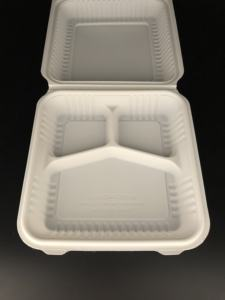biodegradable food container round plates and compostable corn starch meat bowl